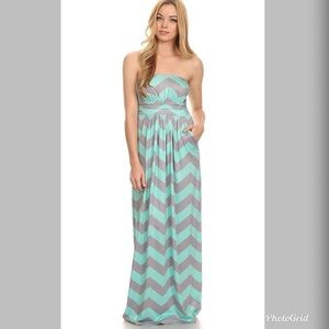 312b698d Fashionomics. NEW Chevron Printed - Summer Maxi Dress